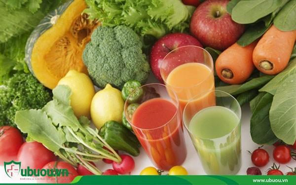 Nên bổ sung hoa quả rau xanh