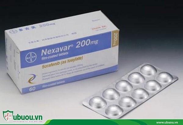 Sorafenib thành phần trong Nexavar giúp ngăn chặn khối u ở gan