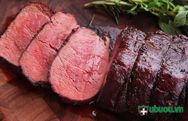 Bị u xơ tử cung không nên ăn thịt bò