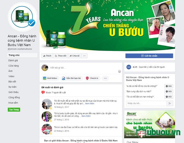 fanpage chính thức của công ty bán ancan