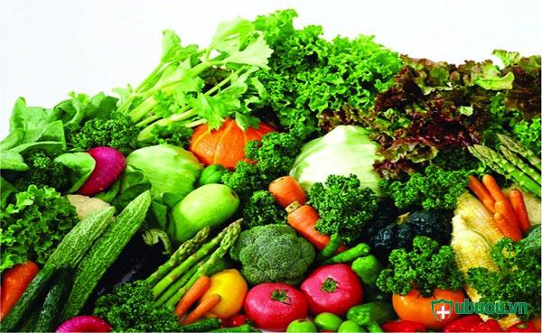 chế độ ăn ung thư tuyến giáp nhiều rau xanh
