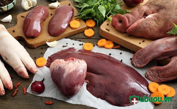 sau phẫu thuật không nên ăn nội tạng động vật