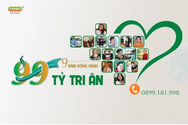 Triso Group: 9 năm đồng hành – 99 tỷ tri ân